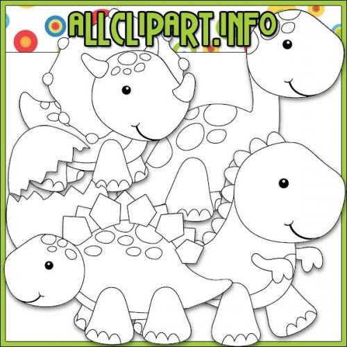 "Dino Babies Digital Stamps - "".00"