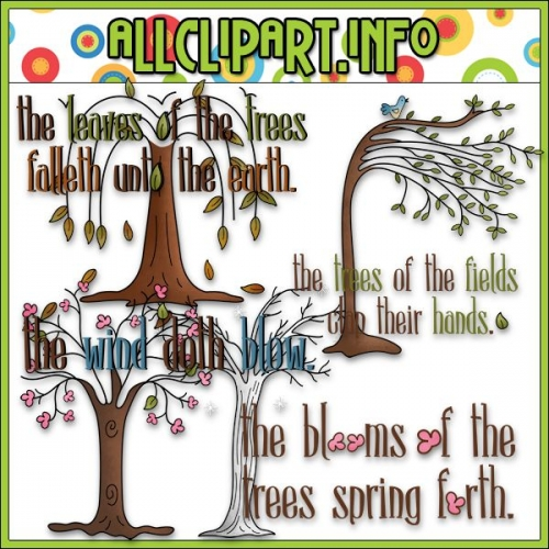 "Trees of the Field Clip Art - alt=""Trees of the Field Clip Art - $1.00"" .00"