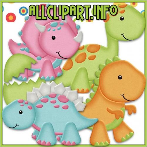 "Dino Babies Clip Art - "".00"