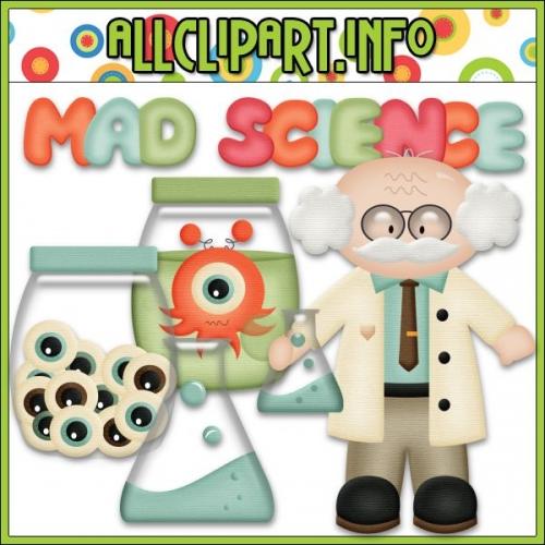 "Mad Scientist Clip Art - "".00"