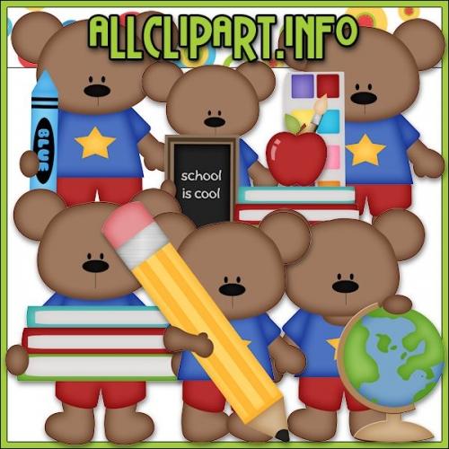 "School Days Bears 1 Clip Art - "".00"