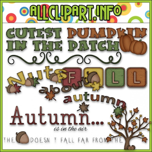 "Nuts About Autumn Word Art - "".00"