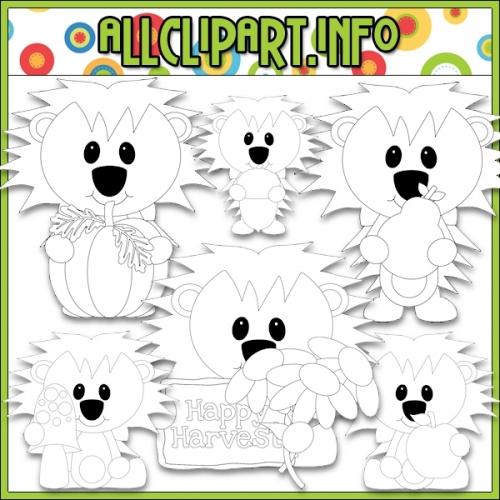 """Happy Harvest Hedgehog 1 Digital Stamps - """".00"""