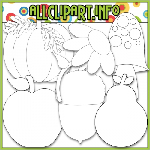 "Happy Harvest Hedgehog 2 Digital Stamps - "".00"