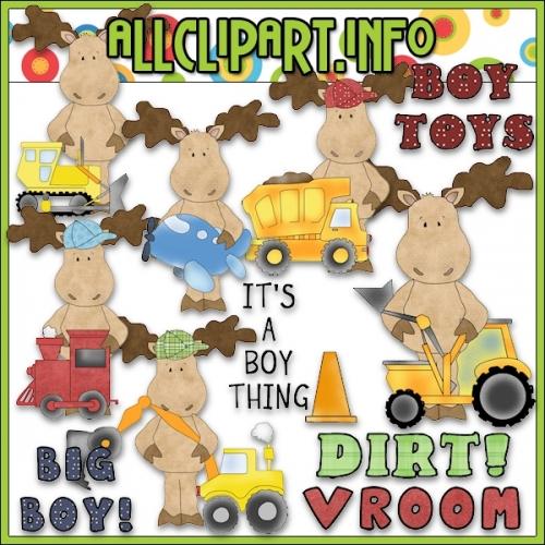 """Boy Toys Moose Clip Art - alt=""""Boy Toys Moose Clip Art - $1.00"""" .00"""