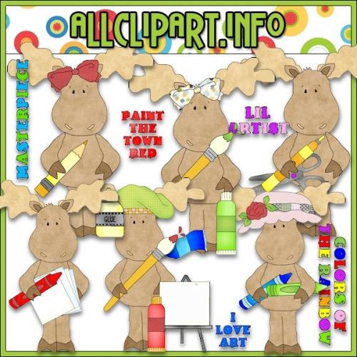 """Masterpiece Moose Clip Art - alt=""""Masterpiece Moose Clip Art - $1.00"""" .00"""