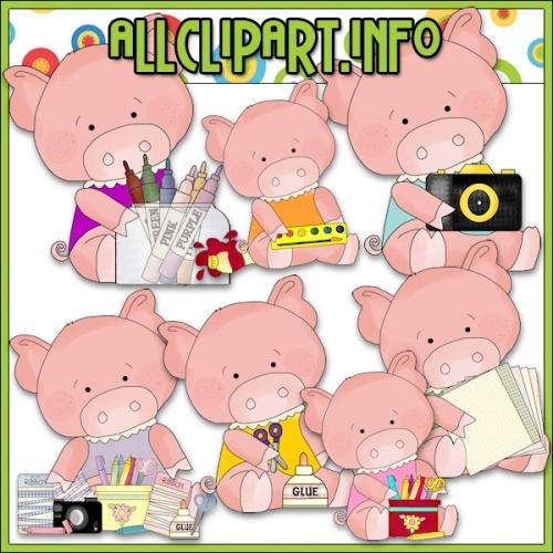 """Scrappin Pigs Clip Art - alt=""""Scrappin Pigs Clip Art - $1.00"""" .00"""