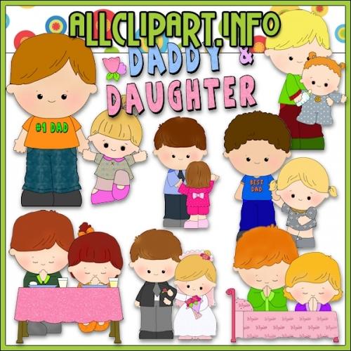 "Daddy & Daughter Clip Art - alt=""Daddy & Daughter Clip Art - $1.00"" .00"