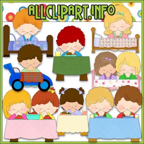 "Children Praying Clip Art - alt=""Children Praying Clip Art - $1.00"" .00"