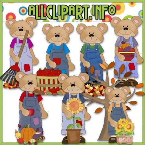 """Fall Fun Bears Clip Art - alt=""""Fall Fun Bears Clip Art - $1.00"""" .00"""