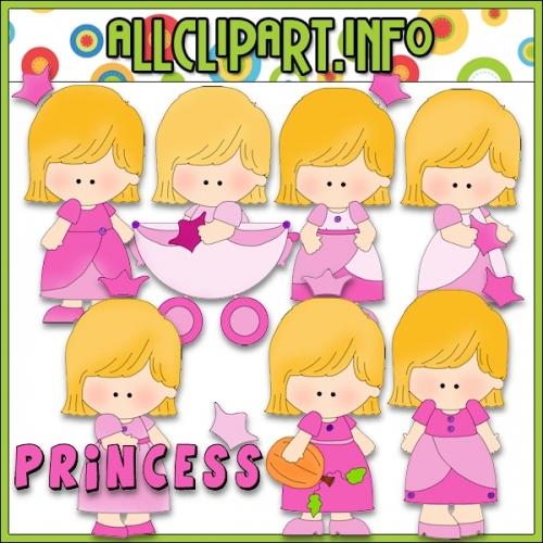 "Pretty Pink Princess Clip Art - alt=""Pretty Pink Princess Clip Art - $1.00"" .00"