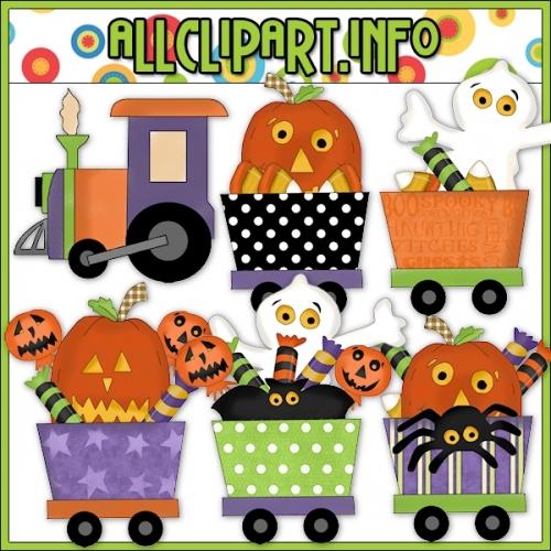"Halloween Train Clip Art - alt=""Halloween Train Clip Art - $1.00"" .00"