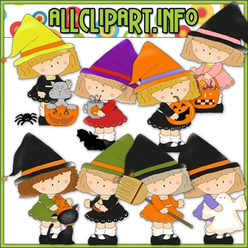 "Halloween Witches 2 Clip Art - alt=""Halloween Witches 2 Clip Art - $1.00"" .00"