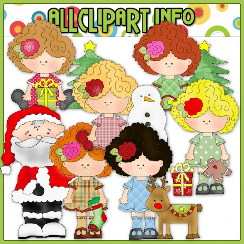 "Christmas Gal Pals Clip Art - alt=""Christmas Gal Pals Clip Art - $1.00"" .00"