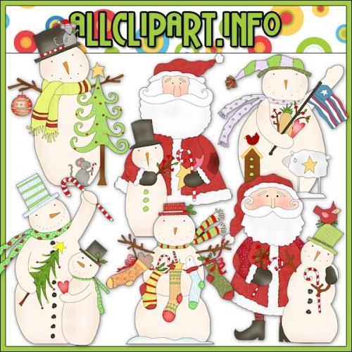 """Hodge Podge Folk Art Winter Clip Art - alt=""""Hodge Podge Folk Art Winter Clip Art - $1.00"""" .00"""