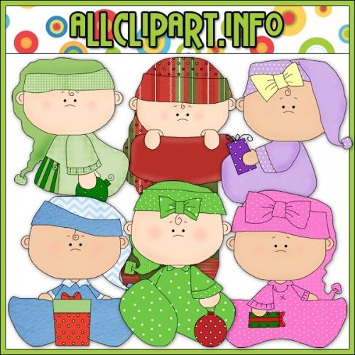 "Christmas Babies Clip Art - alt=""Christmas Babies Clip Art - $1.00"" .00"