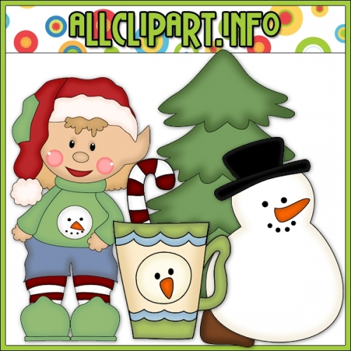 "Sweater Elf with Snowman Cutting File & Clip Art - alt=""Sweater Elf with Snowman Cutting File & Clip Art - $1.00"" .00"