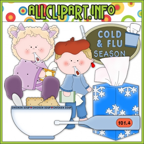 "Cold and Flu Season Clip Art - alt=""Cold and Flu Season Clip Art - $1.00"" .00"