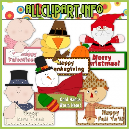 "Holiday Messages Clip Art - alt=""Holiday Messages Clip Art - $1.00"" .00"