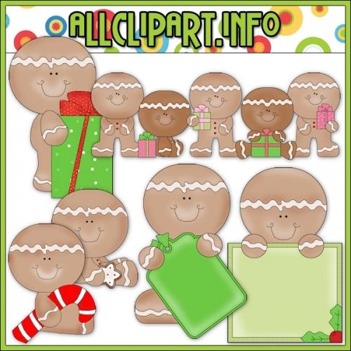 """Christmas Gingers 4 Clip Art - alt=""""Christmas Gingers 4 Clip Art - $1.00"""" .00"""