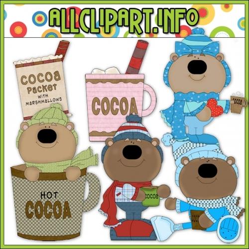 "Cocoa Bears Clip Art - alt=""Cocoa Bears Clip Art - $1.00"" .00"
