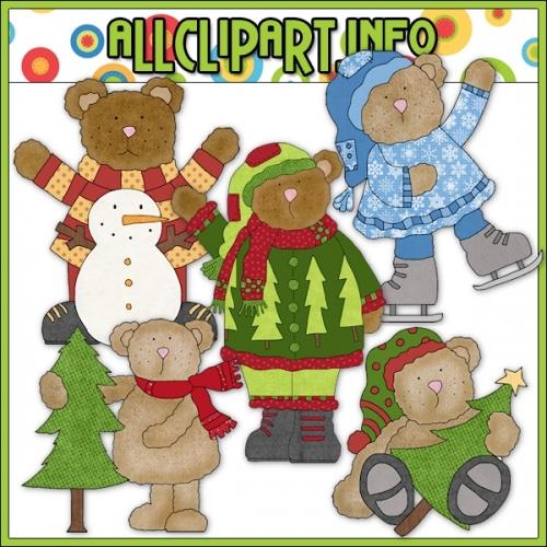 """Winter Bumpkins Clip Art - alt=""""Winter Bumpkins Clip Art - $1.00"""" .00"""