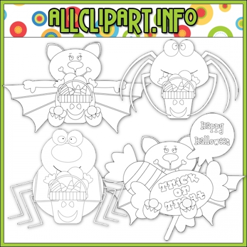 "Trick Or Treat Creatures Digital Stamps - alt=""Trick Or Treat Creatures Digital Stamps - $1.00"" .00"