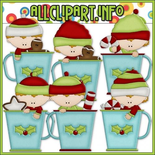 "Christmas Cocoa Kids Clip Art - alt=""Christmas Cocoa Kids Clip Art - $1.00"" .00"