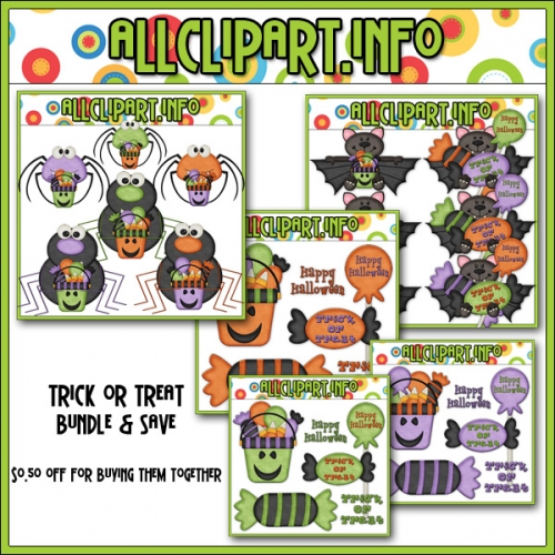 Trick or Treat Clip Art Bundle -  .50