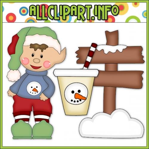 "Sweater Elf North Pole Cutting File & Clip Art - alt=""Sweater Elf North Pole Cutting File & Clip Art - $1.00"" .00"