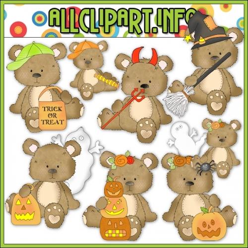 """Halloween Bears Clip Art - alt=""""Halloween Bears Clip Art - $1.00"""" .00"""