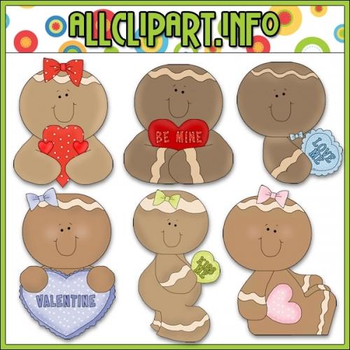 "Valentine Gingers Clip Art - alt=""Valentine Gingers Clip Art - $1.00"" .00"