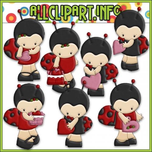 "Little Ladybug Valentine Clip Art - alt=""Little Ladybug Valentine Clip Art - $1.00"" .00"