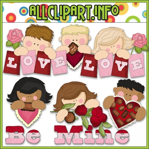 """Valentine Kids Clip Art - alt=""""Valentine Kids Clip Art - $1.00"""" .00"""