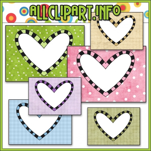 "Heart Card Frames - alt=""Heart Card Frames - $1.00"" .00"