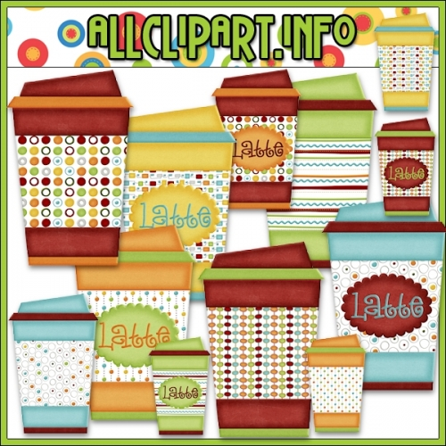 "All Seasons Latte To Go Cups Clip Art - alt=""All Seasons Latte To Go Cups Clip Art - $1.00"" .00"