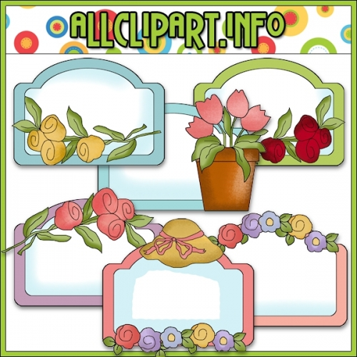 "Pretty Flower Labels - alt=""Pretty Flower Labels - $1.00"" .00"